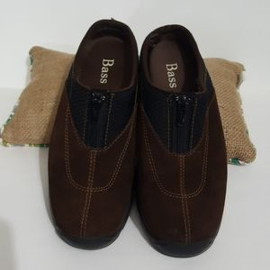 Bass suede slip on loafers